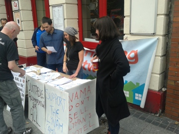 Some of the rota for the table outside the Lynam Hotel (Photo: D. Breatnach)