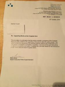 The letter guarantee which led to calling off the protests in October 2014