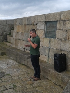 Pól Ó Scanaill reading the 1916 Proclamation