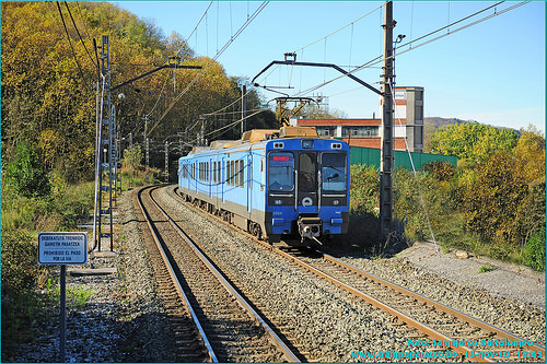 Bizkaia Train & Notice on Track