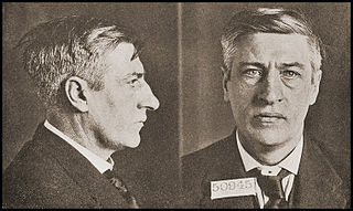 "Jim Larkin's ""mug shots"" when charged with ""criminal anarchism"" in New York 1919 (he served time in Sing Sing penitentiary). (Photo sourced Internet)"