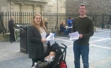Some of the campaigners were younger than others (Photo: Ian O'Kelly)