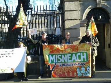 Section of protest demonstration outside the Dáil (Photo D.Breatnach)