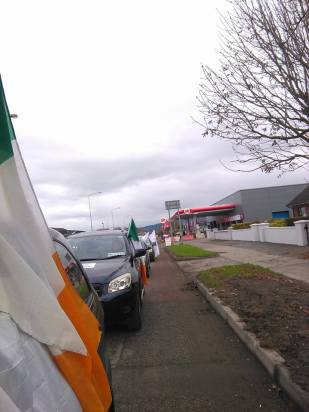 Convoy passing through Dundalk (photo from )