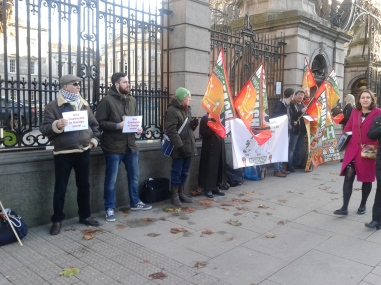 Section of protest after some people had left (Photo D.Breatnach)