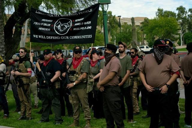 Redneck Revolt members banner