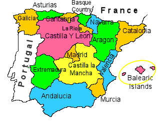 Spanish State Regions Map