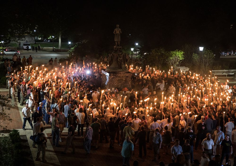 Torchlit Circle Unite the Right Charlottesville
