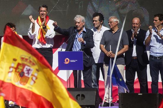 Mario Vargas LLosa Spanish Unity Barcelona 8 Oct2017
