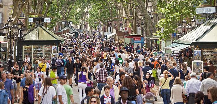Barcelona Rambla Packed