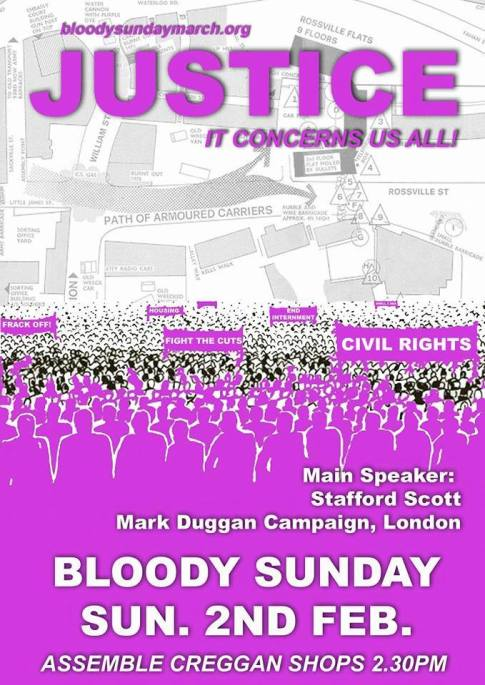 Bloody Sunday march Derry 2014