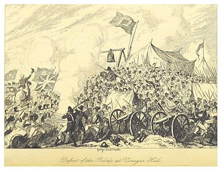 Defeat Rebels Vinegar Hill Drawing George Cruikshank