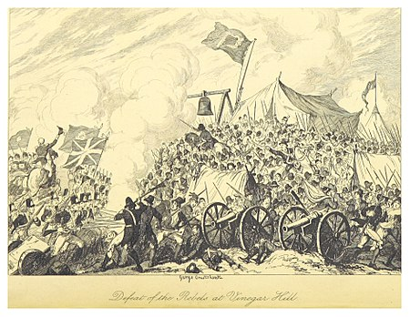 Defeat Rebels Vinegar Hill Drawing George Cruikshank