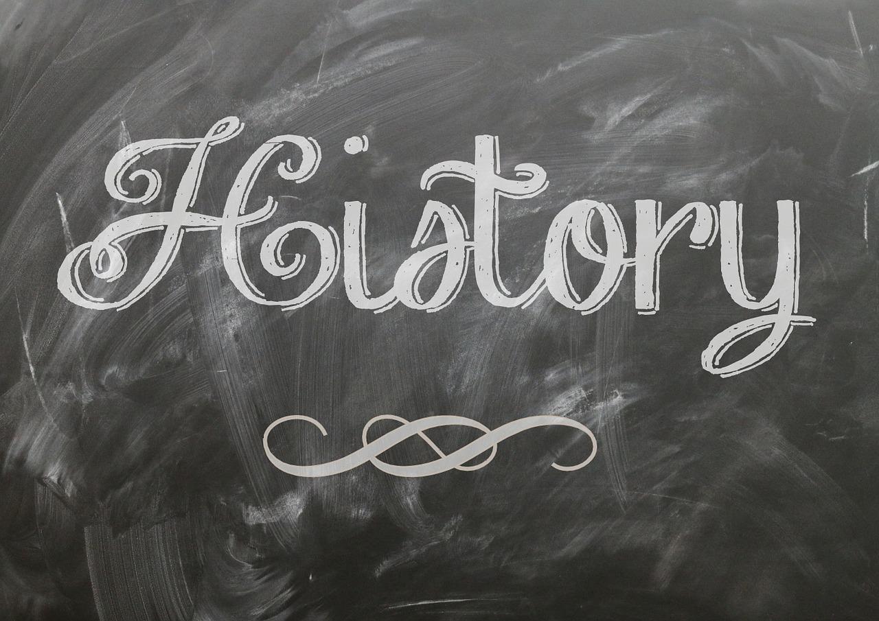 History Cursive Script Blackboard