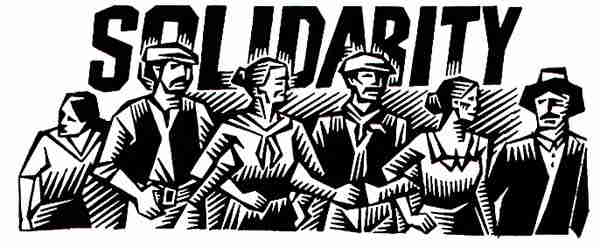 solidarity woodcut