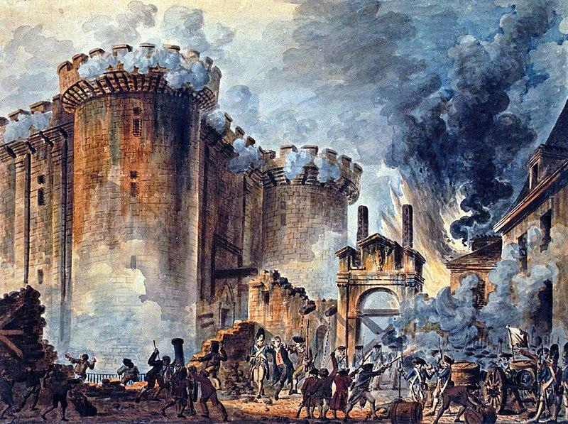 Storming Bastille Painting Jean-Pierre Houel