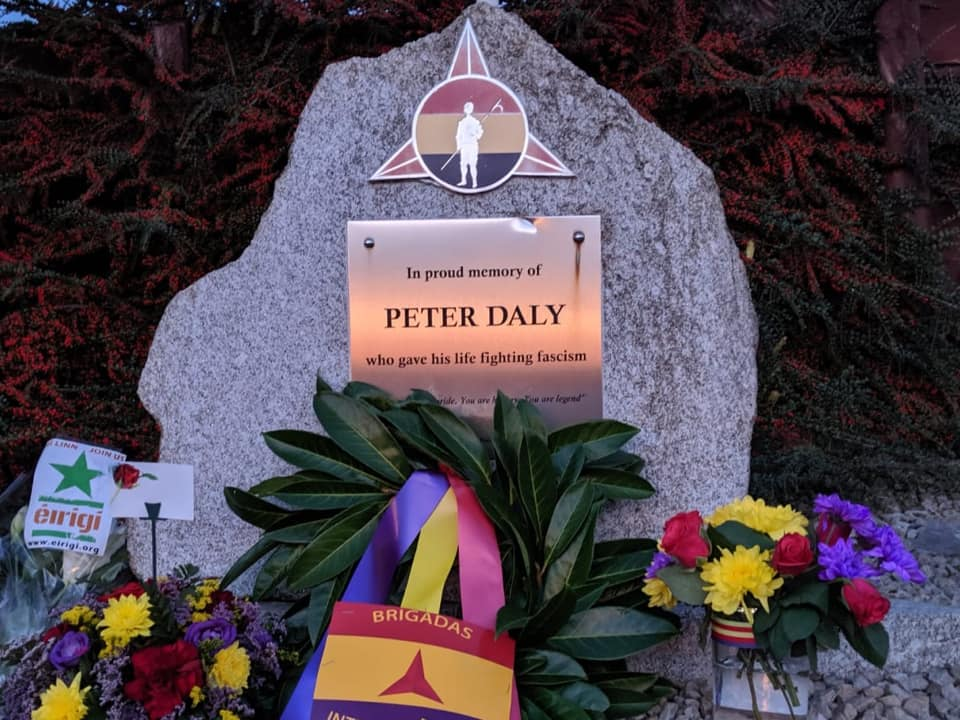 Closeup Peter Daly Monument & Wreaths