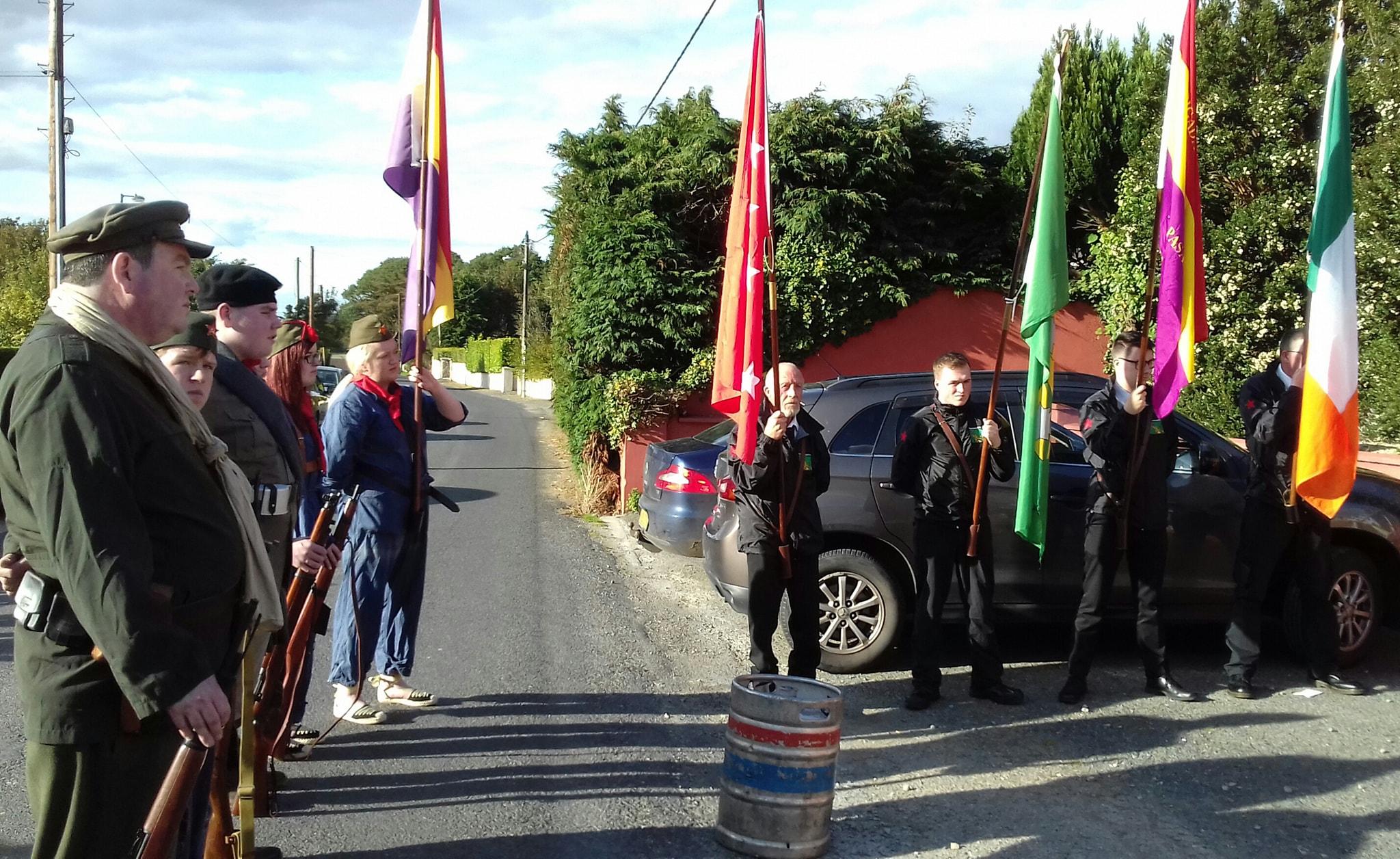 Colour Party & side view Militia GOM