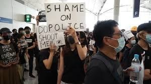 Hong Kong Placards Police Don't Shoot