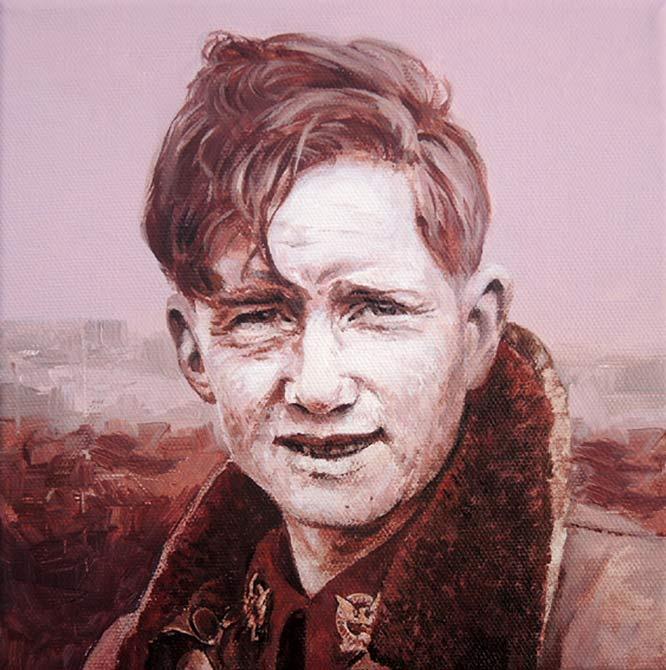 oil painting by Eoin Mac Lochlainn of Pilot Michael McGloughlin